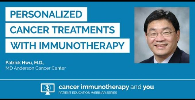 Personalized Cancer Treatment with Immunotherapy